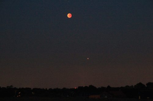 Joop Hubers maansverduistering met Mars